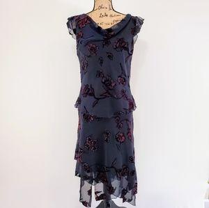 CDC Velvet Floral Sheer Women's 2pc Skirt Black 12